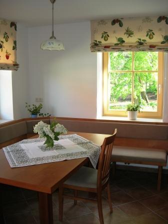 Der Essbereich in der Küche